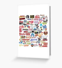 Musical Theatre Greats Greeting Card