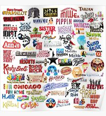 Musical Theatre Greats Poster