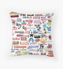 Musical Theatre Greats Throw Pillow