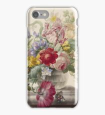 Herman Henstenburgh - Flowers In A Glass Vase With A Butterfly, 1700 iPhone Case/Skin