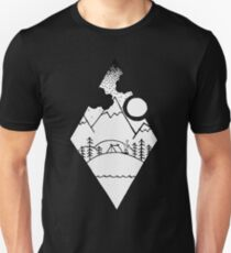 Diamond Mountain Sketch Unisex T-Shirt