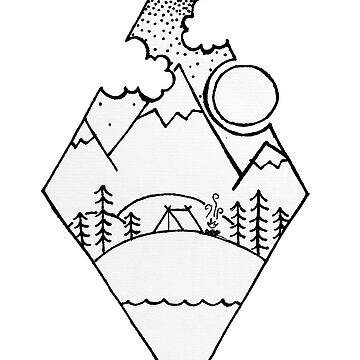 Bosquejo de Diamond Mountain de smalltownnc
