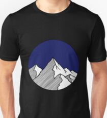 Mountains Sketch Unisex T-Shirt
