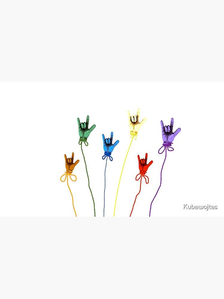 Ich liebe dich - Regenbogen von Kubawojtas