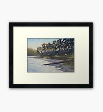 Late afternoon glow on Smiths Lake Framed Print