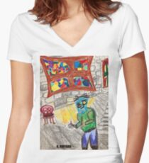 It Came Upon a Midnight Clear Women's Fitted V-Neck T-Shirt