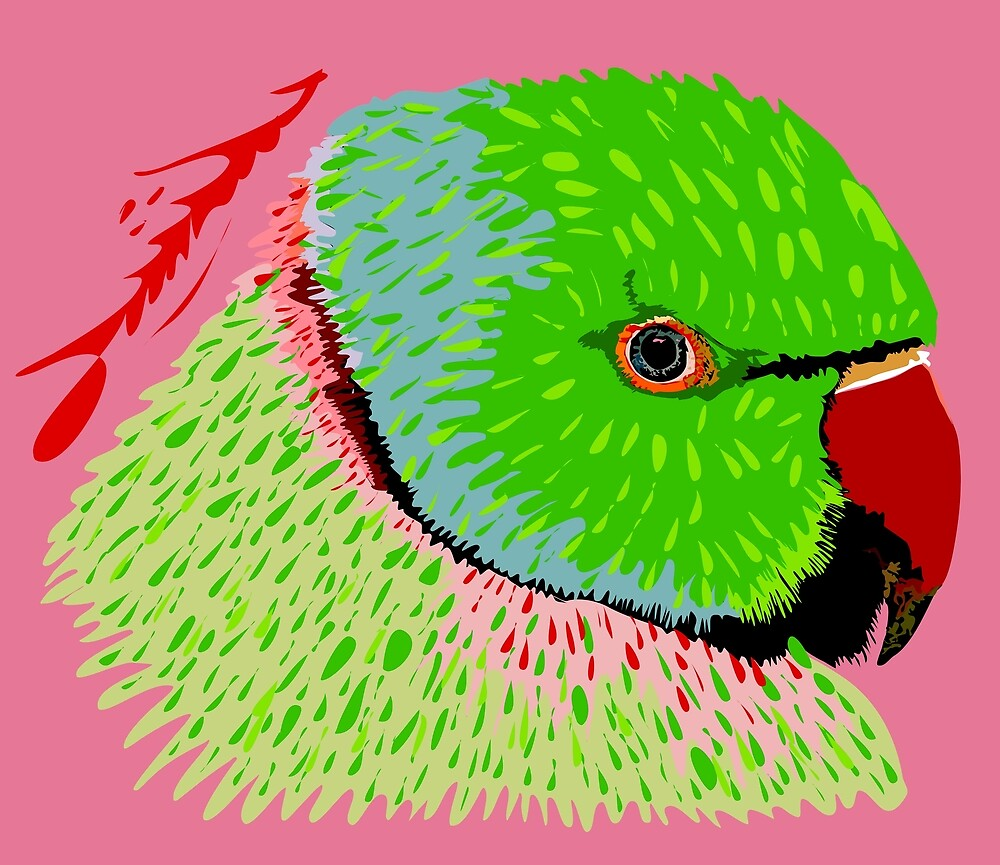 Rose-ringed Parakeet by michdevilish