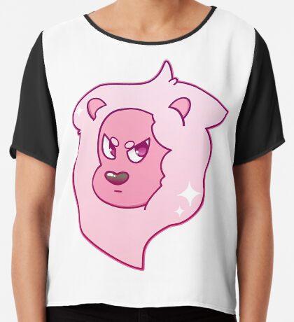 Pink Lion Chiffon Top