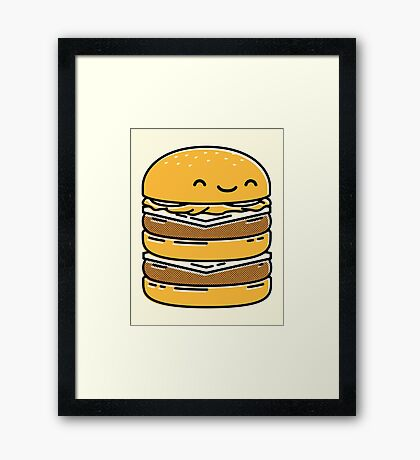 Happy Burger  Framed Print