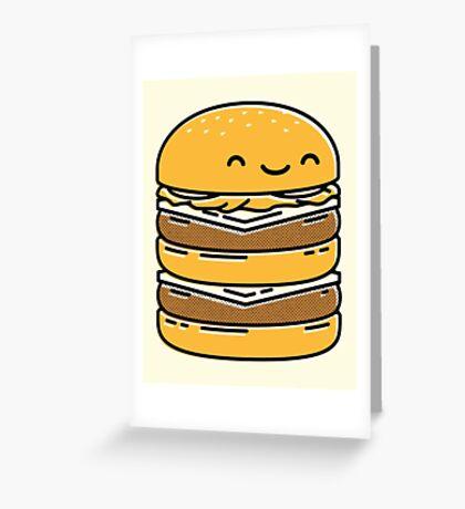 Happy Burger  Greeting Card