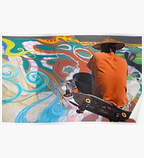 Abstract Skateboarding Poster