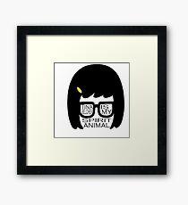 Tina Belcher Spirit Animal Sticker Framed Print