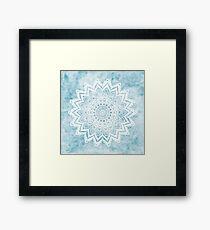MANDALA SAVANAH LIGHT BLUE Framed Print