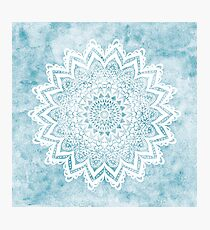 MANDALA SAVANAH LIGHT BLUE Photographic Print