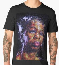 Black is the colour of my true love's hair - Nina Simone Men's Premium T-Shirt