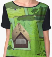 Rice paddy field Chiffon Top