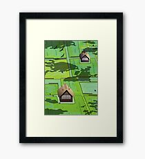 Rice paddy field Framed Print