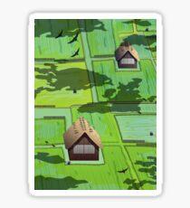 Rice paddy field Sticker
