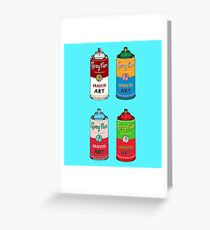 Spray can art Greeting Card