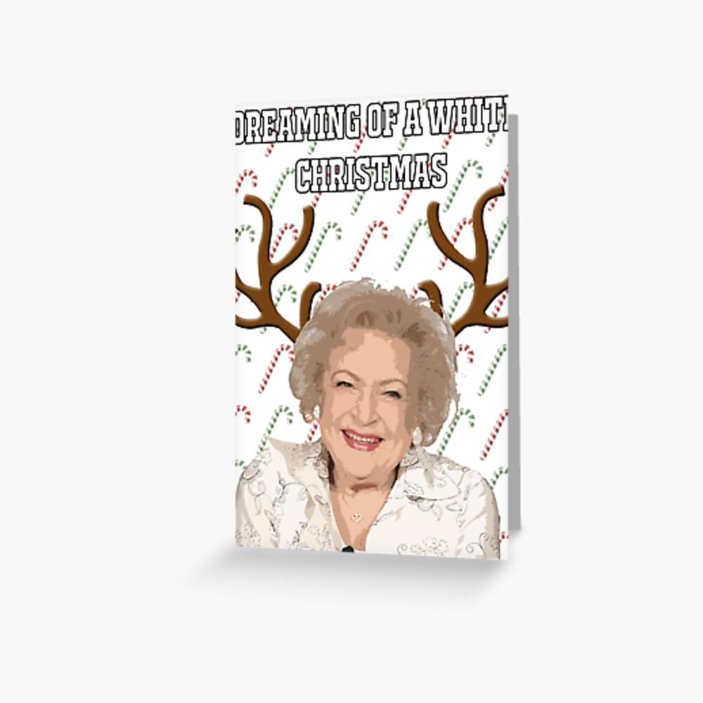 """Die goldenen Mädchen """", die von einer weißen Weihnacht"""" Gruß-Karte träumen Grußkarte"""