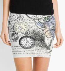 White Rabbit Alice in Wonderland Watches Time Mini Skirt