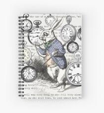 White Rabbit Alice in Wonderland Watches Time Spiral Notebook