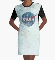 NASA Space Agency Ultra-Vintage Graphic T-Shirt Dress