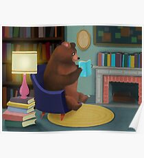 Mister Bear Loves His Books Poster