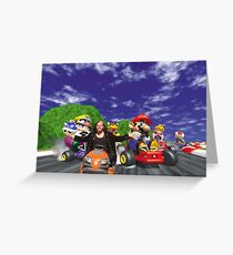 Broken Mario Kart Greeting Card