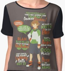Pidge Quotes Women's Chiffon Top
