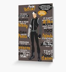 Shiro Quotes Greeting Card