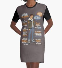 Lance Quotes Graphic T-Shirt Dress