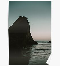 Oregon Coast Dark Ocean Poster