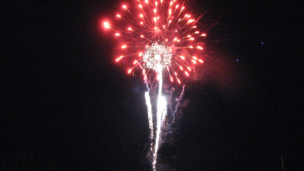 Red fireworks by ANibbe
