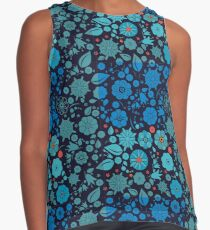 Wildflowers with leaves and berries Contrast Tank