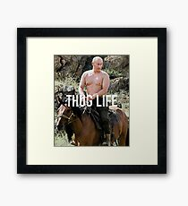 Throwback - Vladimir Putin Framed Print