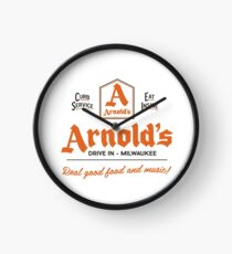 """Arnold's Drive In"" - As seen on ""Happy Days"" Clock"