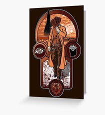 The Gunslinger's Creed. Greeting Card