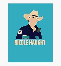 Nicole Haught - Minimalistic Poster (Wynonna Earp) Photographic Print