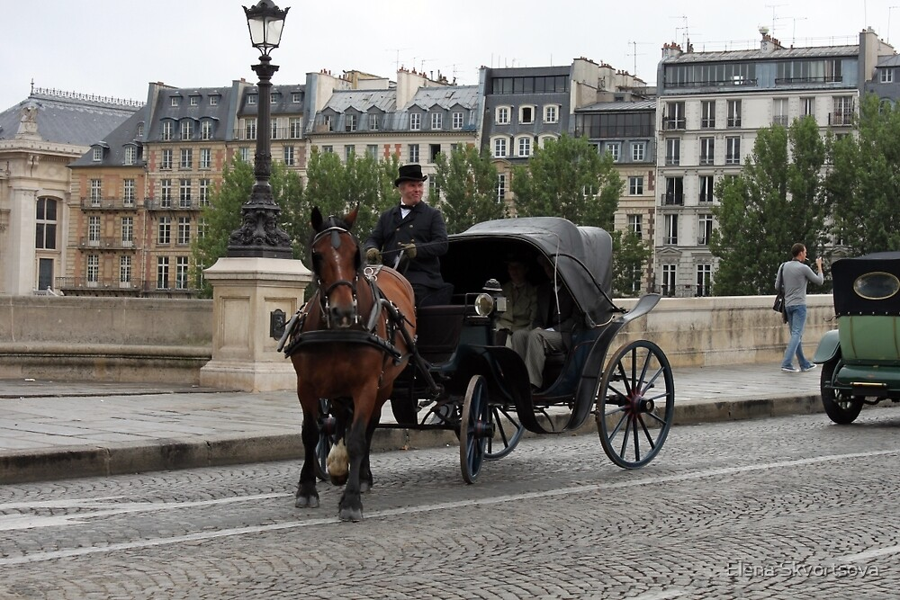 Paris in retro style by Elena Skvortsova