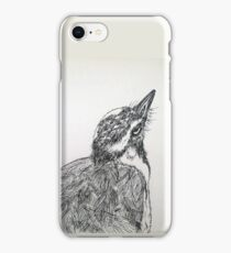 Magpie Lark Print Oriental Zen Minimalist - Sumie ink australian bird iPhone Case/Skin