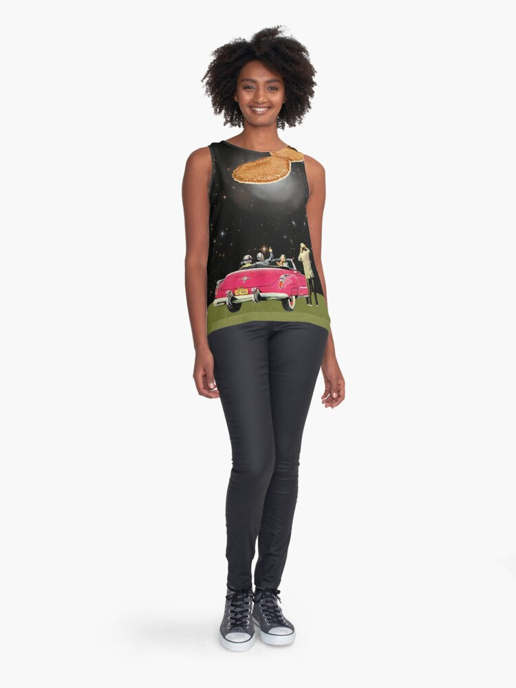 Alternate view of Unidentified flying object Sleeveless Top