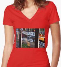 Stoke City Women's Fitted V-Neck T-Shirt