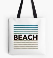 Stripy beach pattern with sand and sea pattern Tote Bag