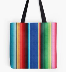Colorful Mexican Poncho Background Tote Bag