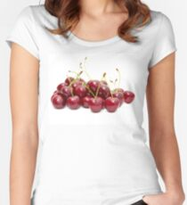 cherry fruit  Women's Fitted Scoop T-Shirt