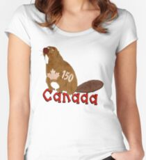 Canadian Beaver Women's Fitted Scoop T-Shirt