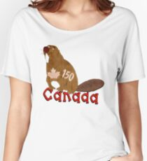 Canadian Beaver Women's Relaxed Fit T-Shirt