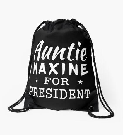 Auntie Maxine For President Drawstring Bag
