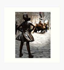 Fearless Girl Statue Art Print